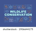wildlife conservation word...