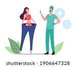 happy slim woman wearing... | Shutterstock .eps vector #1906647328
