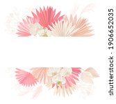 watercolor floral wedding... | Shutterstock .eps vector #1906652035