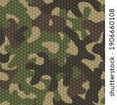 camouflage mesh. seamless... | Shutterstock .eps vector #1906660108