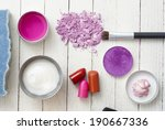 makeup accessories on white... | Shutterstock . vector #190667336