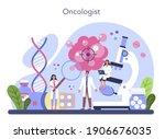 professional oncologist. cancer ... | Shutterstock .eps vector #1906676035