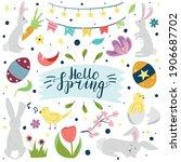 hello spring banner template...   Shutterstock .eps vector #1906687702