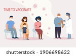 queue of different people for... | Shutterstock .eps vector #1906698622