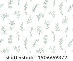 floral seamless pattern with... | Shutterstock .eps vector #1906699372