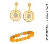 vector womens bracelet and... | Shutterstock .eps vector #1906717675