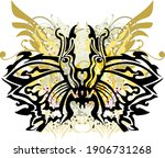 splattered colorful tribal... | Shutterstock .eps vector #1906731268