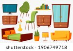 home furniture. isolated trendy ... | Shutterstock .eps vector #1906749718