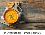Pumpkin Soup With Croutons And...