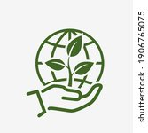save environment icon. plant... | Shutterstock .eps vector #1906765075