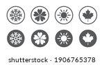 Four Seasons Year Icon Set....