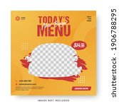 food menu banner social media... | Shutterstock .eps vector #1906788295