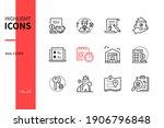 real estate   modern line... | Shutterstock .eps vector #1906796848