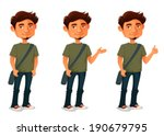 cartoon illustration of a young ...   Shutterstock .eps vector #190679795