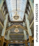 Small photo of Gorlitz, Germany - 15th Aug 2019: The Gorlitz department store in Gorlitz is one of the best preserved department stores from the beginning of the twentieth century.
