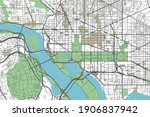 colorful washington  d.c.... | Shutterstock .eps vector #1906837942