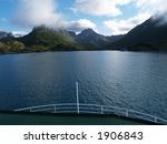Small photo of boat on fjords
