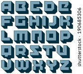 vector geometric font. square... | Shutterstock .eps vector #190685306