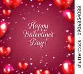 valentines day poster with red... | Shutterstock .eps vector #1906854088