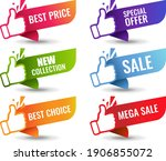 sale labels isolated white...   Shutterstock .eps vector #1906855072