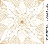 geometric minimalistic artwork... | Shutterstock .eps vector #1906856182