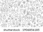 funny happy easter seamless... | Shutterstock .eps vector #1906856185