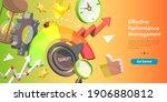 3d isometric vector conceptual... | Shutterstock .eps vector #1906880812