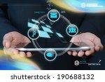 hand holding mobile smart phone | Shutterstock . vector #190688132