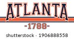 retro college varsity font... | Shutterstock .eps vector #1906888558