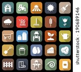 farming flat icons with long... | Shutterstock .eps vector #190689146