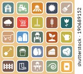 farming flat icons on brown... | Shutterstock .eps vector #190689152
