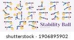 swiss ball or fitness ball... | Shutterstock .eps vector #1906895902