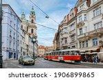 View Of Prague Street  Czech...