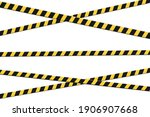 set of caution tapes. vector... | Shutterstock .eps vector #1906907668