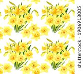 Seamless Pattern. Bouquets Of...