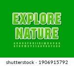 vector green logo explore... | Shutterstock .eps vector #1906915792