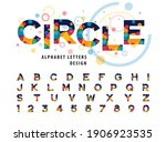 abstract colorful circles... | Shutterstock .eps vector #1906923535