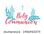 first holy communion greeting... | Shutterstock .eps vector #1906933375