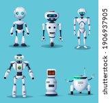 future robots .cartoon... | Shutterstock .eps vector #1906937905