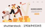 business team walking success... | Shutterstock .eps vector #1906945345