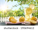 citrus lemonade in garden... | Shutterstock . vector #190694612