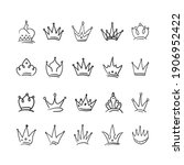 hand drawn crown vector... | Shutterstock .eps vector #1906952422