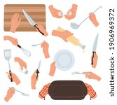 cooking hands. female hands...   Shutterstock .eps vector #1906969372