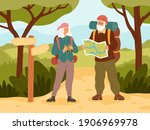 senior couple on vacation....   Shutterstock .eps vector #1906969978