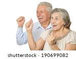 emotional senior couple... | Shutterstock . vector #190699082