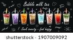 bubble milk tea special...   Shutterstock .eps vector #1907009092
