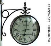 Retro Railway Station Clock  On ...