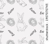 seamless pattern for easter... | Shutterstock .eps vector #1907070745
