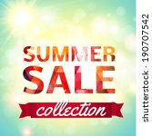 summer sale collection. vector... | Shutterstock .eps vector #190707542