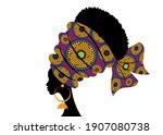 portrait beautiful african... | Shutterstock .eps vector #1907080738